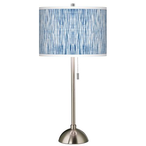 Beachcomb Giclee Brushed Steel Table Lamp
