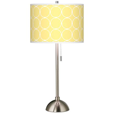 Lemon Interlace Giclee Brushed Steel Table Lamp