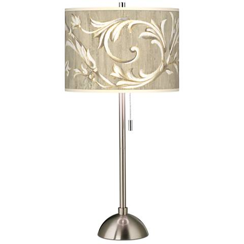 Laurel Court Brushed Steel Contemporary Table Lamp