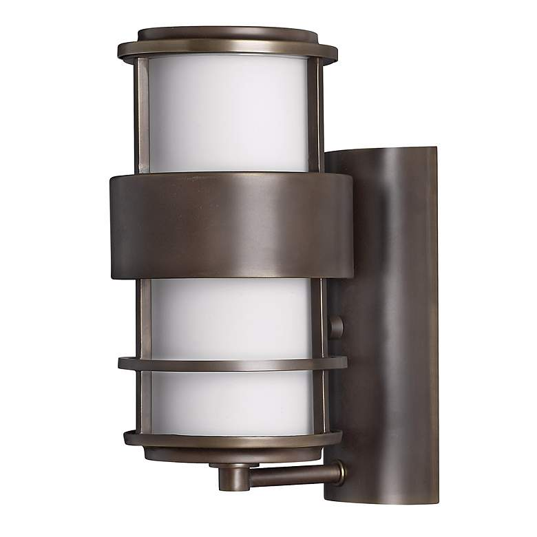 "Hinkley Saturn Metro Bronze12"" High Outdoor Wall Light"