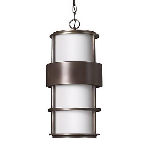 """Hinkley Saturn Bronze 21 1/2"""" High Outdoor Hanging Light"""