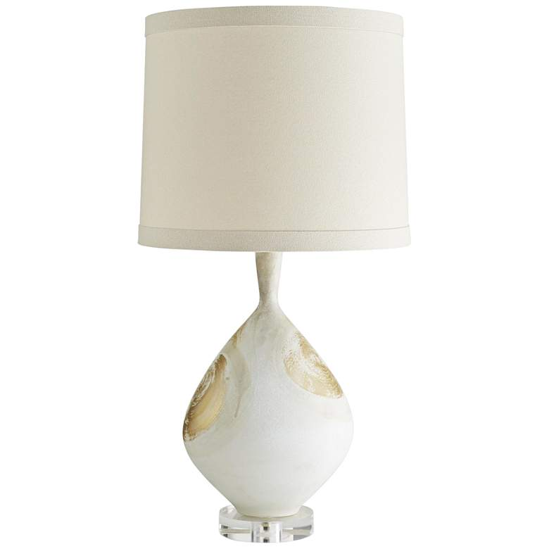 Nanette Satin Papyrus with Gold Accents Porcelain Table Lamp