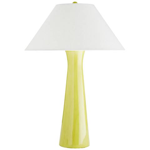 Arteriors Home Osmond Citron Yellow Porcelain Table Lamp