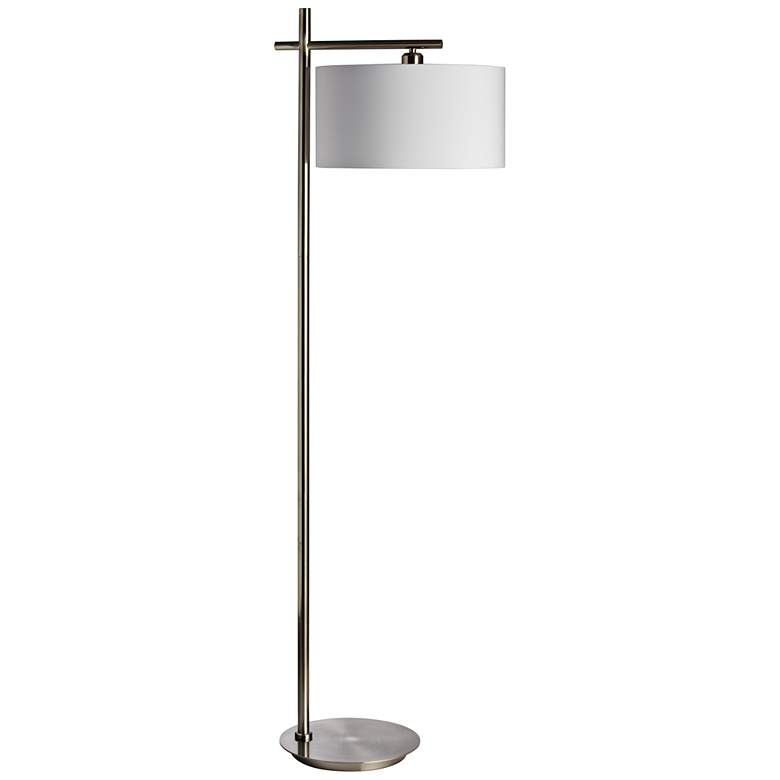 Duggar Satin Chrome Metal Floor Lamp
