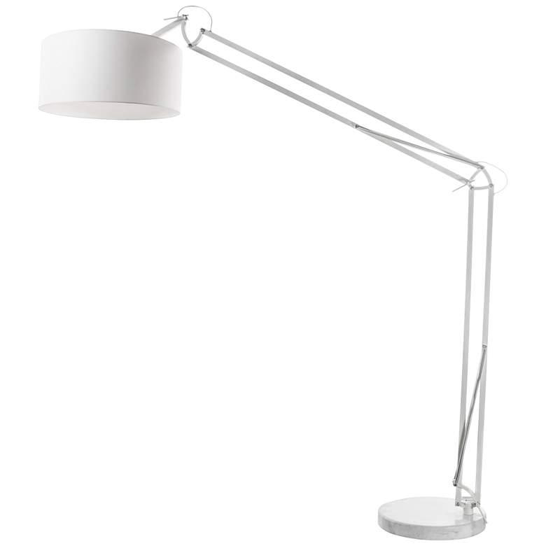 Cornell White Metal Adjustable Floor Lamp