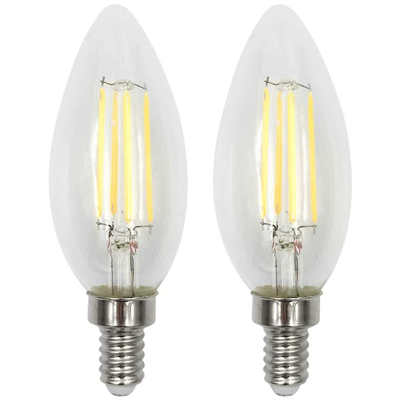 60W Equivalent Torpedo 6W LED Filament Candelabra 2-Pack
