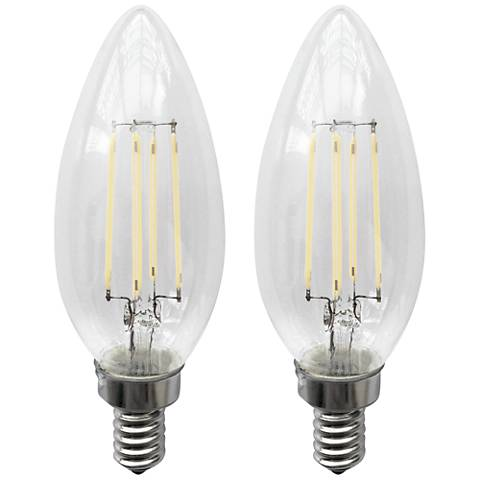40W Equivalent Clear 4W LED Candelabra LED Bulb 2-Pack