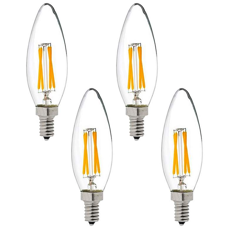 40W Equivalent Maxlite 4W LED Dimmable Candelabra 4-Pack