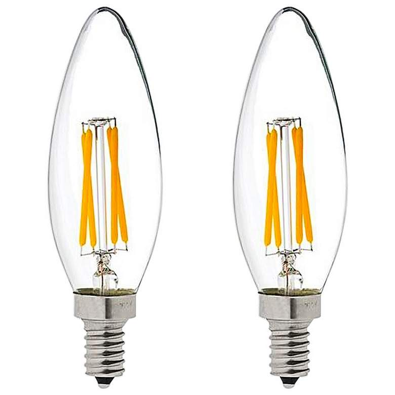 40W Equivalent LED Filament 4W Dimmable Candelabra 2-Pack