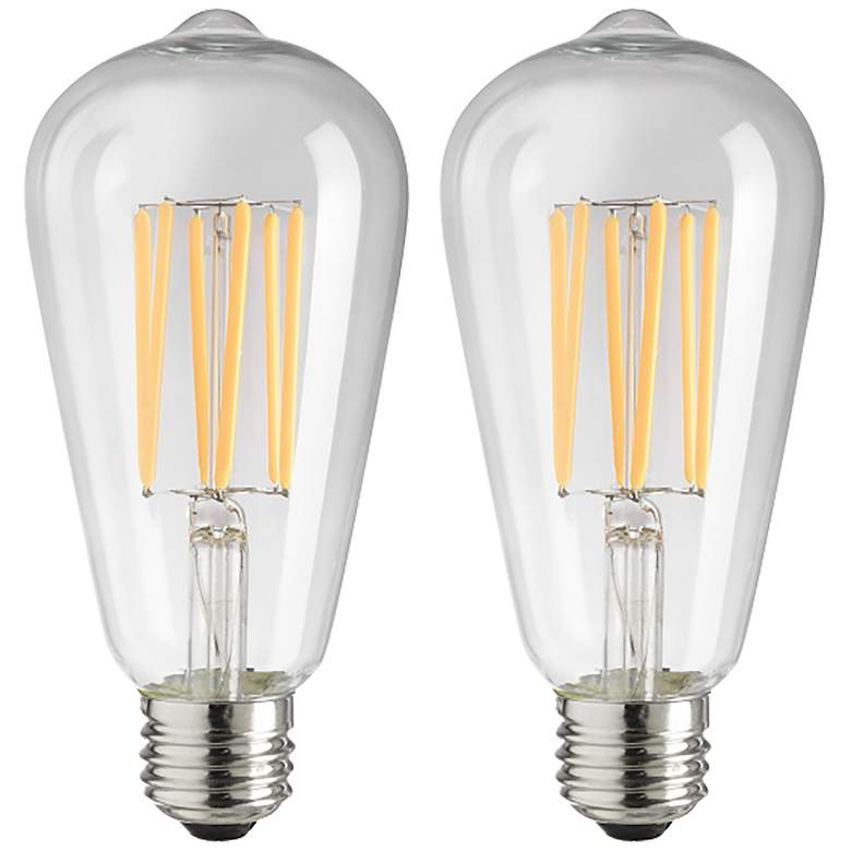 75W Equivalent Clear 8W LED Dimmable Edison Bulb