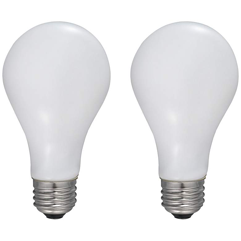 75W Equivalent Frosted 9W LED Dimmable Filament A21 2-Pack