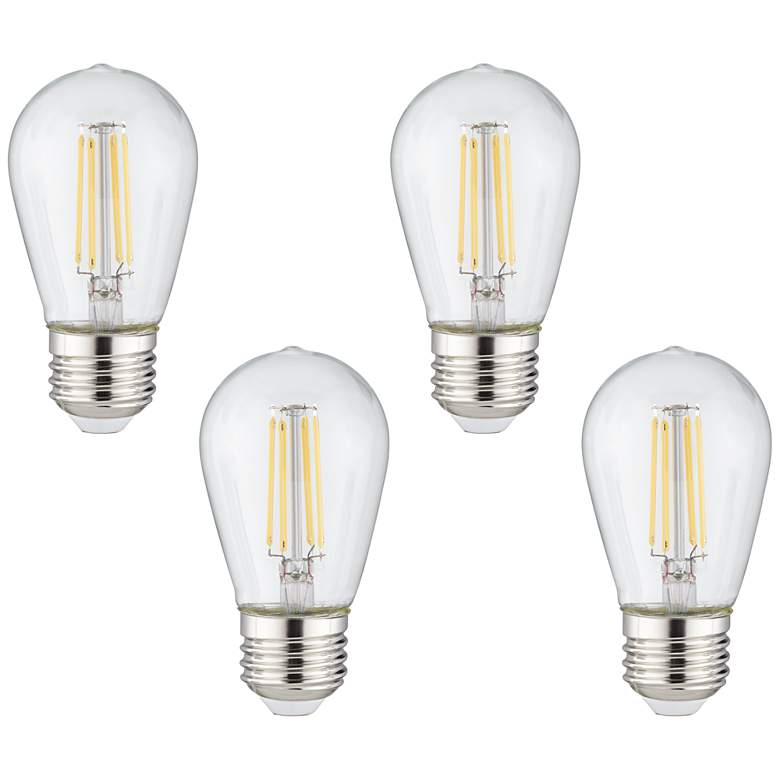 40W Equivalent Clear 4W LED ST14 Outdoor Party Light 4-Pack