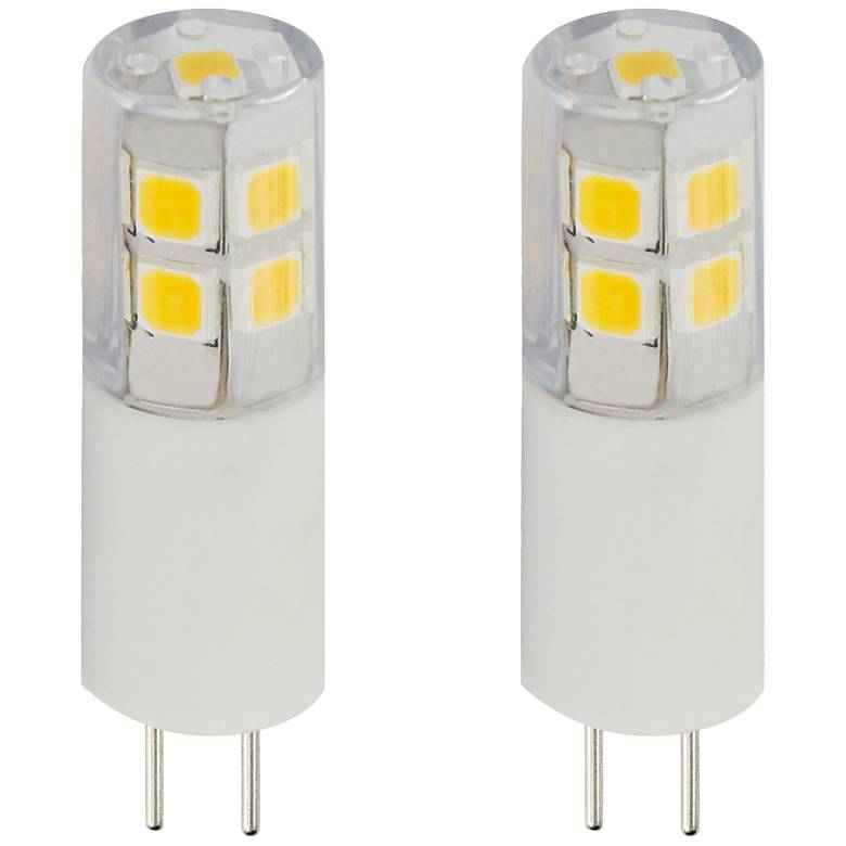 25W Equivalent Clear Tesler 2W LED Dimmable G4 Bulb 2-Pack