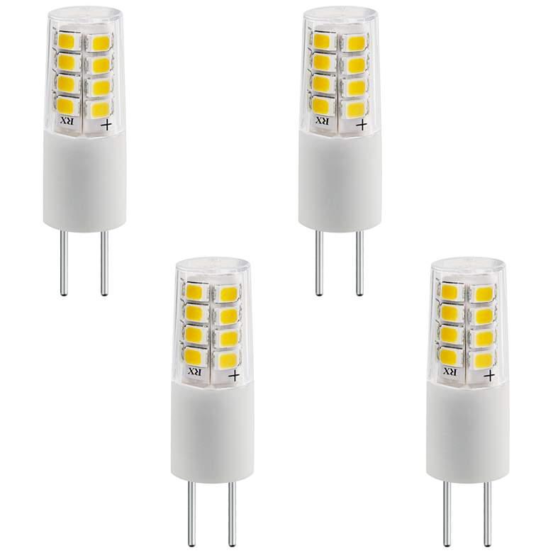 35 Watt Equivalent Tesler 3 Watt LED Dimmable G4 Bulb 4-Pack