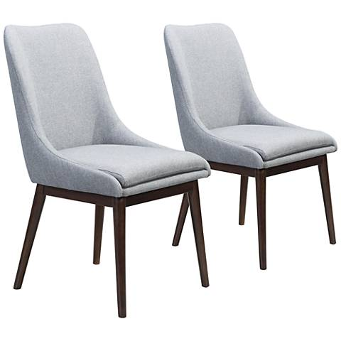 Zuo Ashmore Charcoal Gray Dining Chairs Set of 2