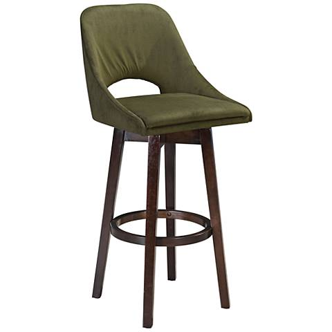 Zuo Ashmore Emerald Green Upholstered Bar Chair