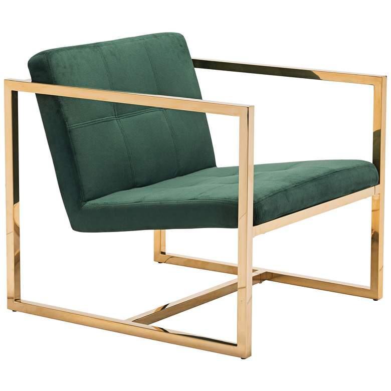 Zuo Alt Green Velvet Tufted Armchair