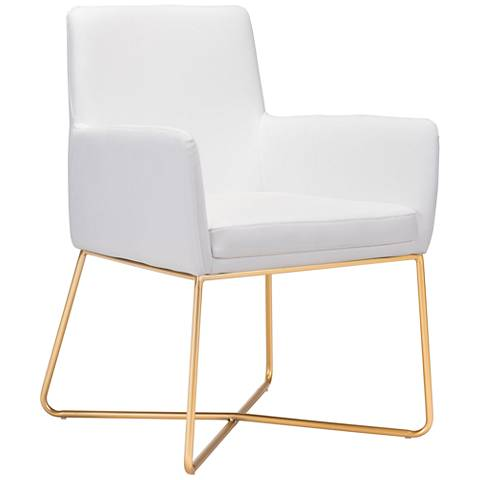 Zuo Honoria White Leatherette Armchair