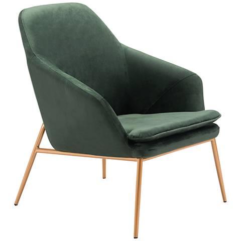 Zuo Debonair Green Velvet Armchair