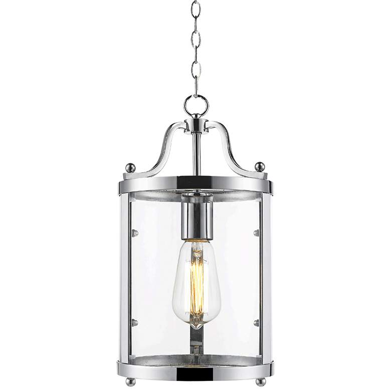 """Payton 7 1/4"""" Wide Chrome and Clear Glass Mini Pendant"""