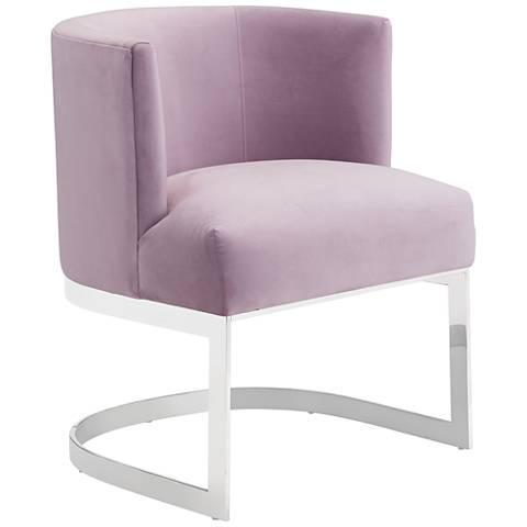 Zuo Artist Pink Velvet Occasional Chair