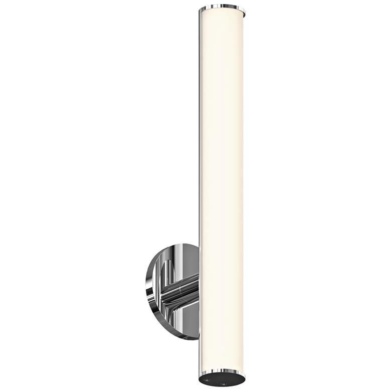 "Bauhaus Columns 18"" High Polished Chrome LED Wall"