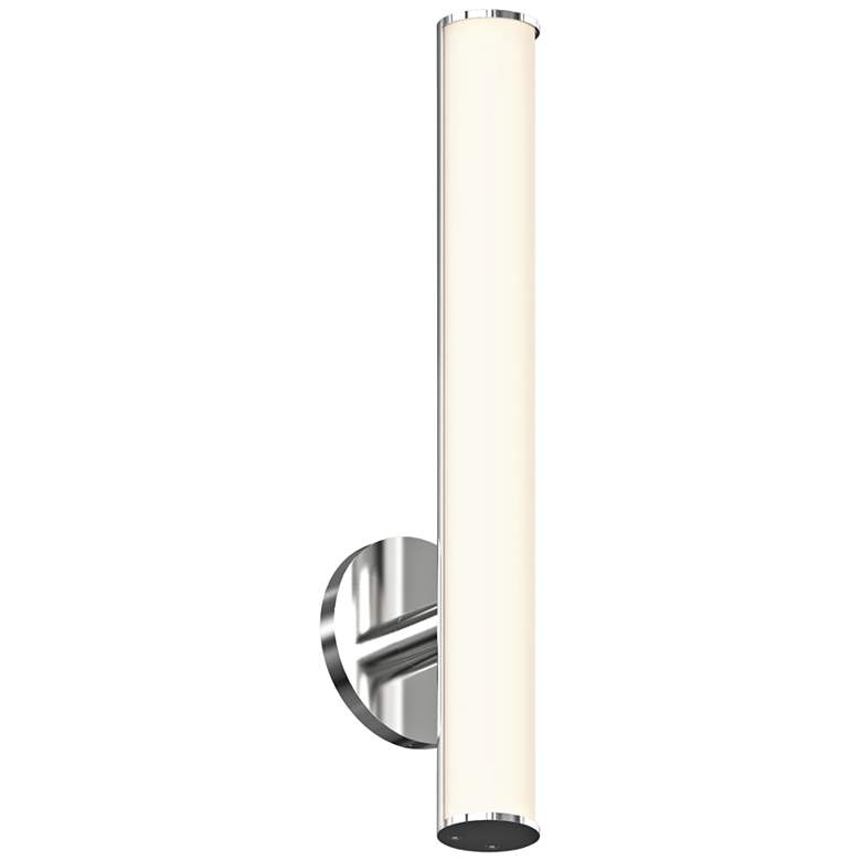 "Sonneman Bauhaus Columns 18""H Satin Chrome LED Wall Sconce"