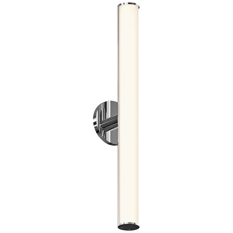 "Bauhaus Columns 24"" High Polished Chrome LED Wall Sconce"