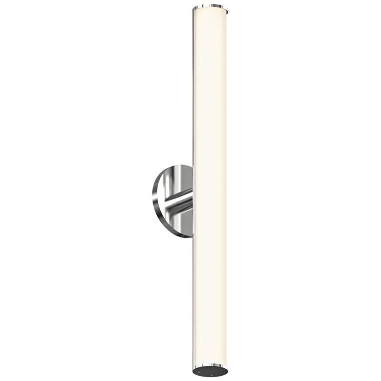 "Bauhaus Columns 24""H Satin Chrome LED Wall Sconce"