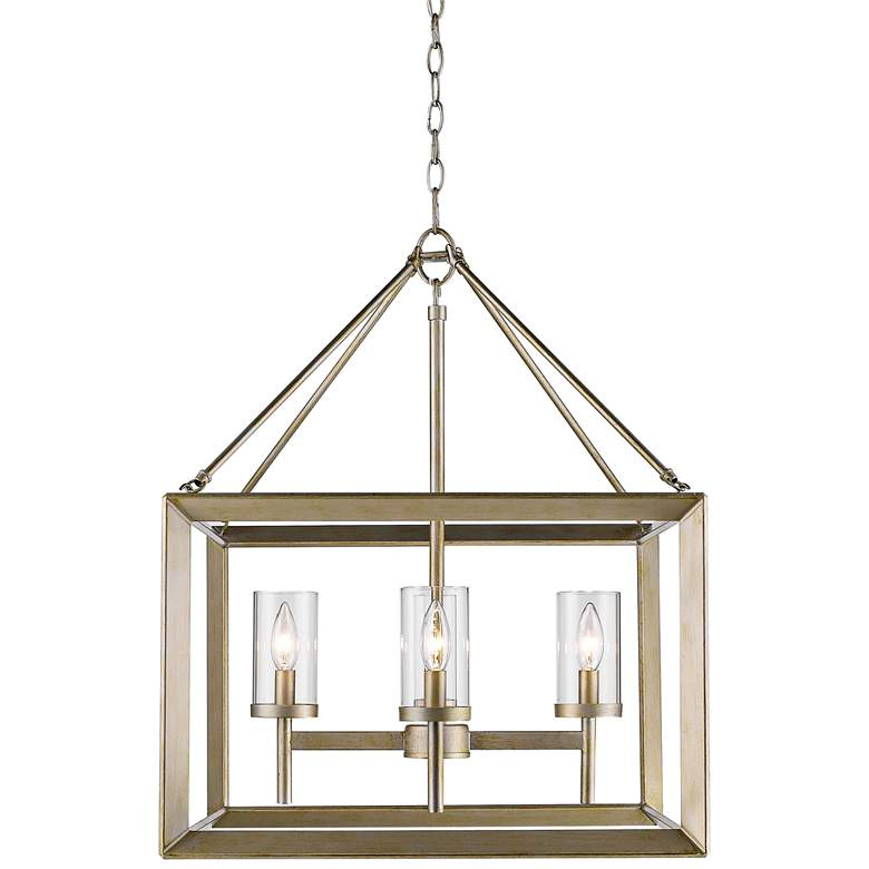 "Smyth 21"" Wide White Gold 4-Light Chandelier"