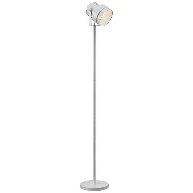 Natalia Matte White Metal Spotlight Floor Lamp