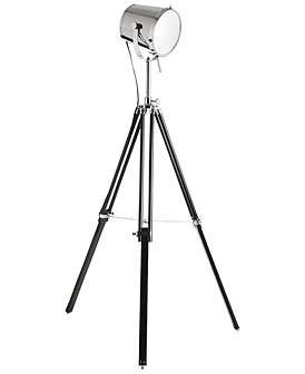 Miller Chrome Metal Tripod Spotlight Floor Lamp