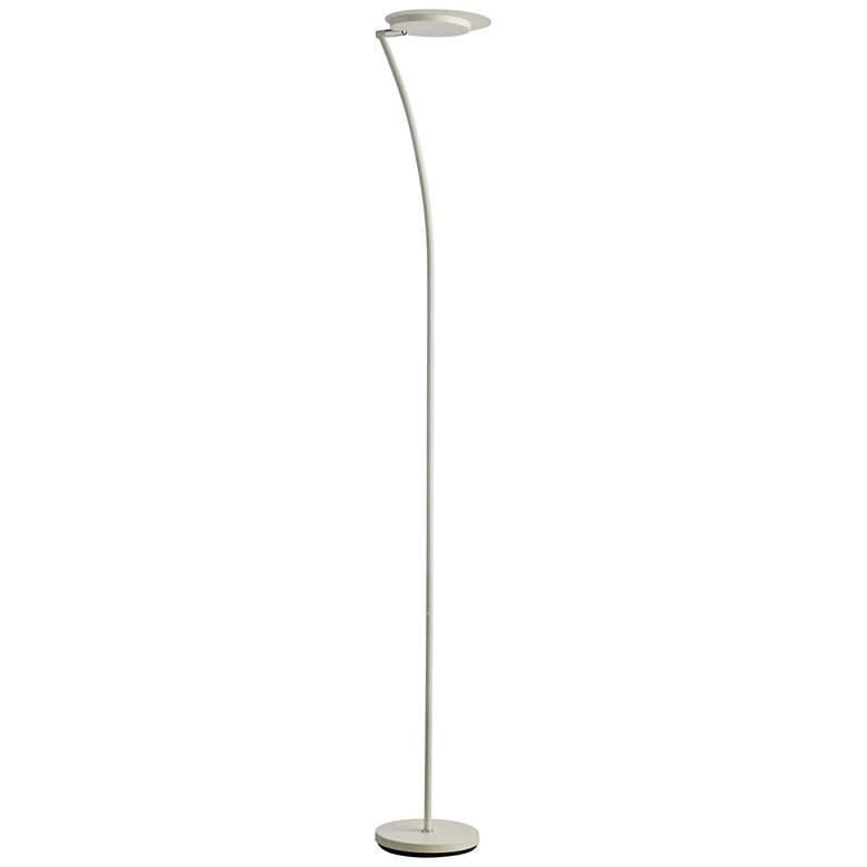 Haven Matte White Metal LED Torchiere Floor Lamp