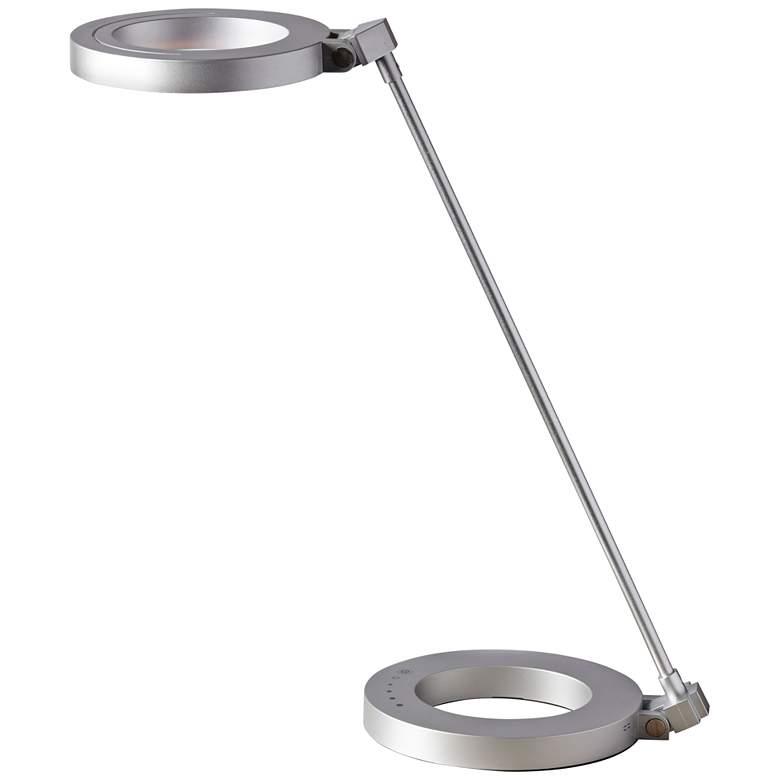 Dillon Silver Ring Modern LED Desk Lamp