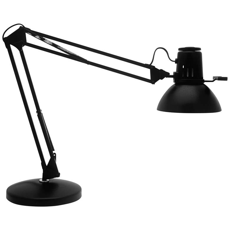 Aiden Black Adjustable Desk Lamp with Heavy Base