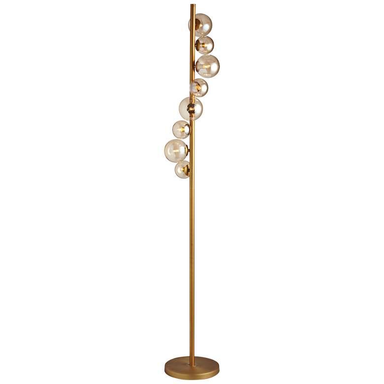 Pearl Portrait Vintage Bronze 8-Light Halogen Floor Lamp