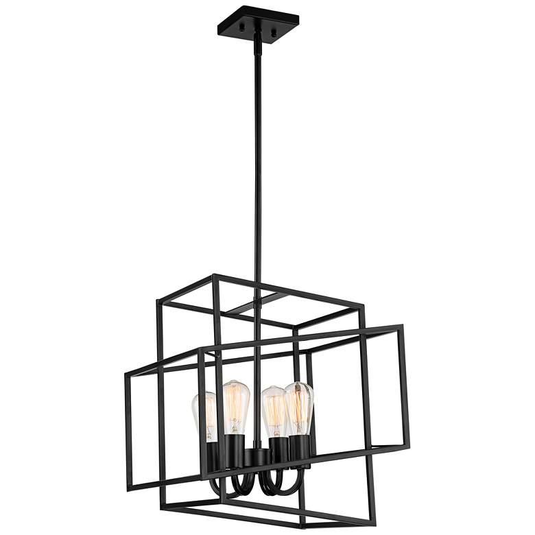 """Possini Euro Rinaldi 15 3/4""""W Bronze 4-Light Cube Pendant"""