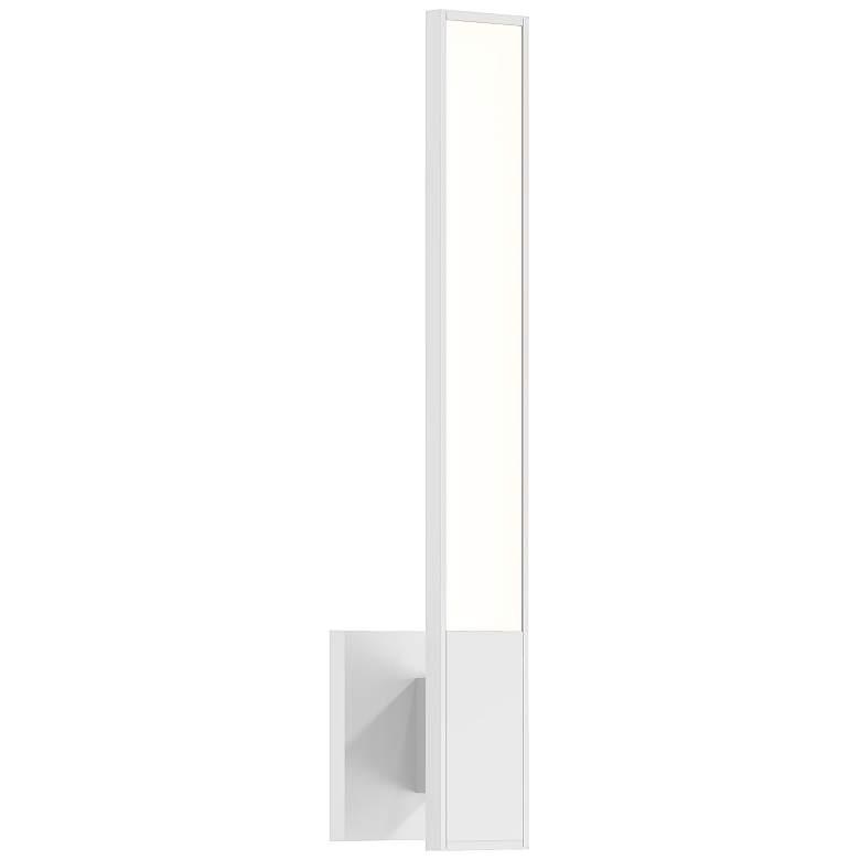 "Sonneman Planes™ 18"" High Satin White LED Wall Sconce"