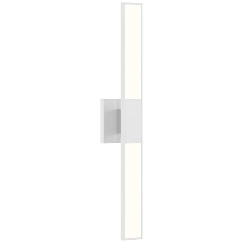 "Planes™ 24 1/4"" High Satin White 2-Light LED Wall Sconce"