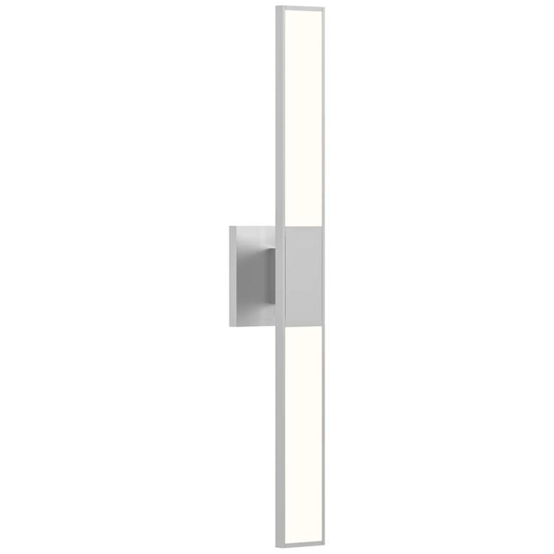 "Planes™ 24 1/4""H Bright Satin Aluminum 2-LED Sconce"