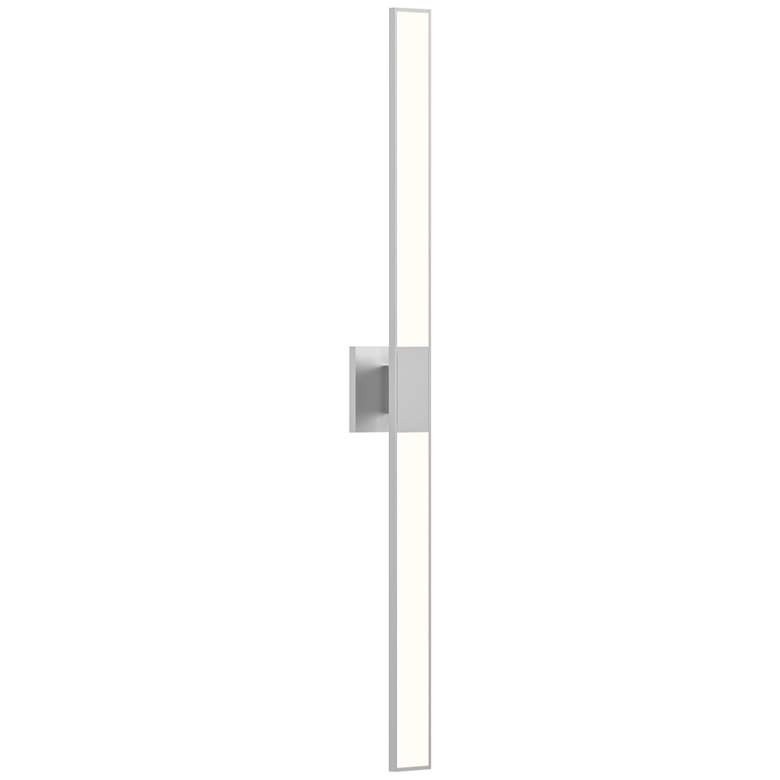 "Planes™ 40""H Bright Satin Aluminum 2-Light LED Wall Sconce"