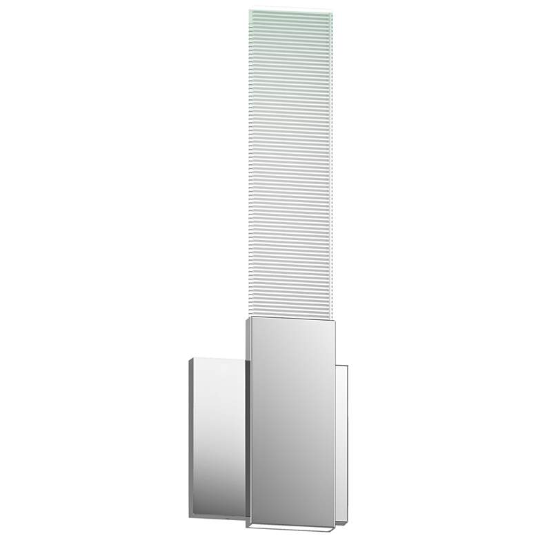 "Radiant Lines™ 15""H Polished Chrome LED Wall Sconce"
