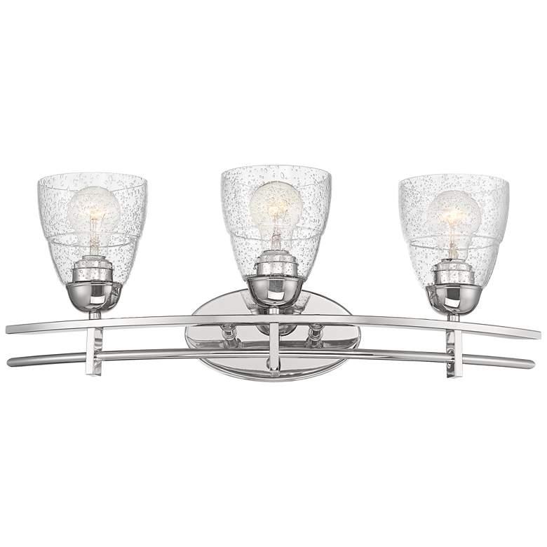 """Possini Euro Deco 23 1/2"""" Wide Seedy Glass Bath Light"""