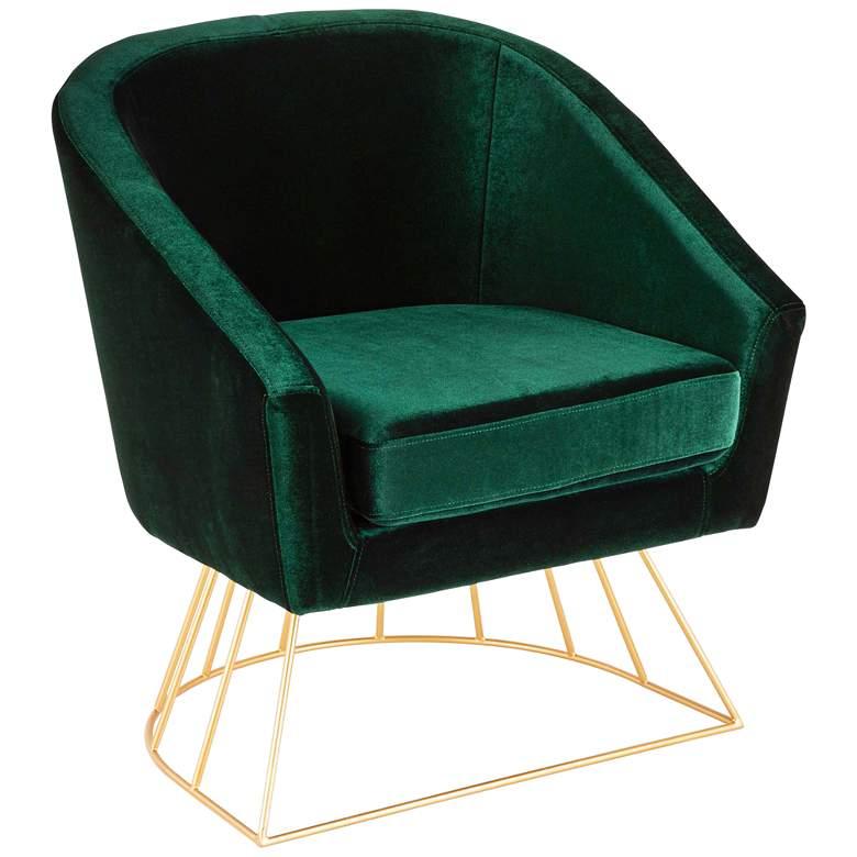 Canary Emerald Green Velvet Accent Chair