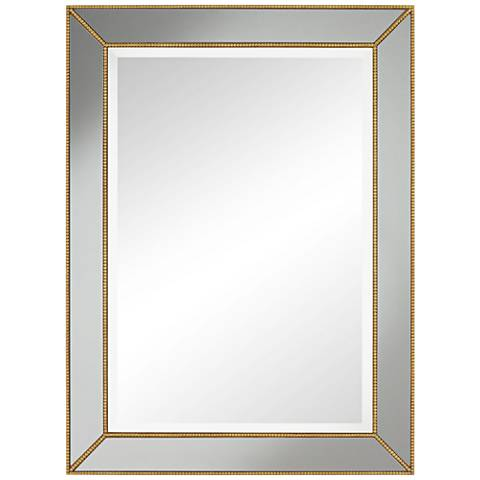 """Clementine Gold with Smoke Glass 30"""" x 40"""" Wall Mirror"""