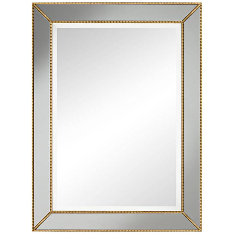 "Clementine Gold with Smoke Glass 30"" x 40"" Wall Mirror"