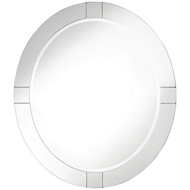 """Possini Euro Mackenzie 28"""" x 32"""" Frameless Oval Mirror"""