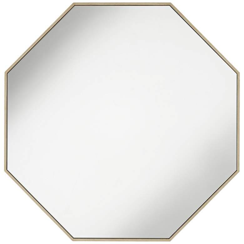 """Possini Euro Delano Champagne 33"""" Octagon Wall Mirror"""