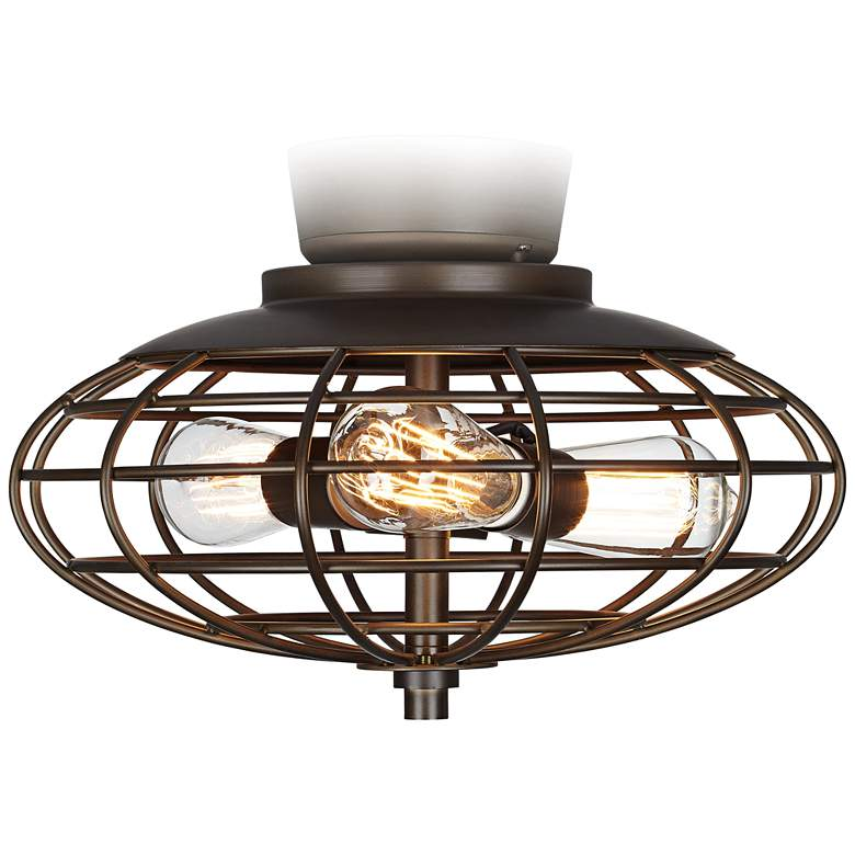 LED Oil-Rubbed Bronze Open Cage Industrial Light Kit