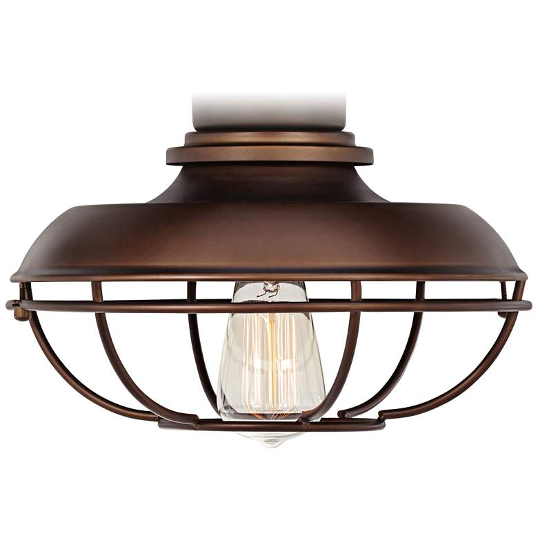 Franklin Park Bronze Damp Rated LED Ceiling Fan